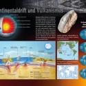 Kontinentaldrift Vulkanismus Wissenstafel • Druck auf Leinwand