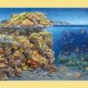 Mittelmeer-Panorama • Kunstdruck auf Papier