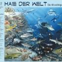 Haie der Welt-Panorama • Kunstdruck auf Papier - mit Legende/Tiernamen