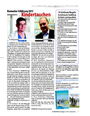 Die Eisenacher Erklärung zum Kindertauchen – Ausgabe DM84