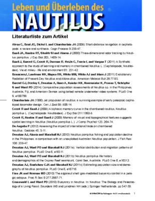 Literaturliste zum Nautilus – Ausgabe DM87