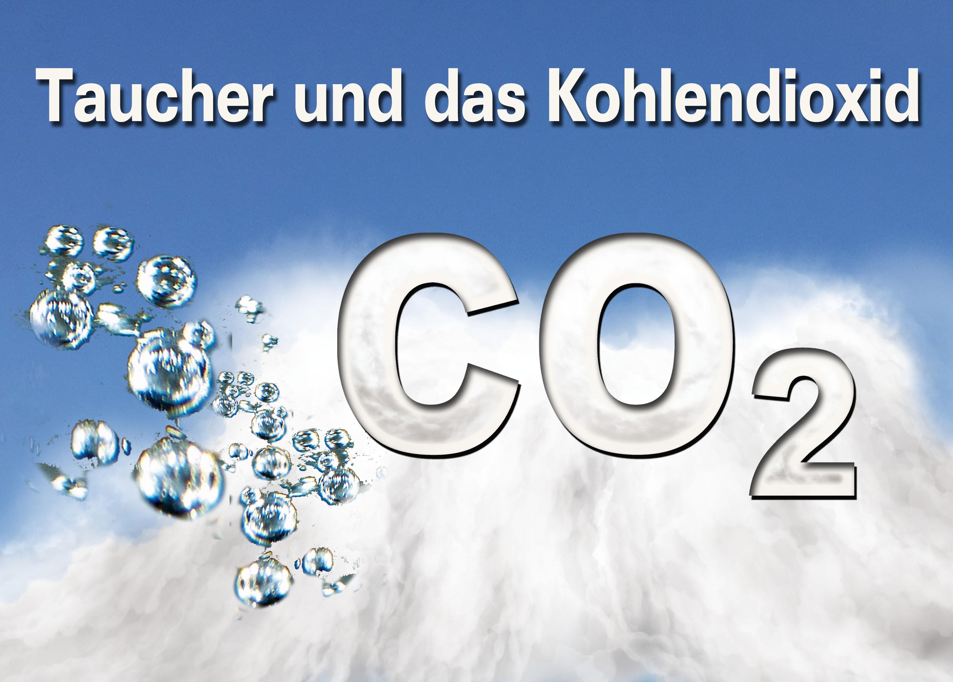 Taucher und das Kohlendioxid CO2