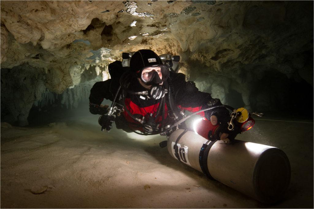 Lichtgestaltung in Höhlen