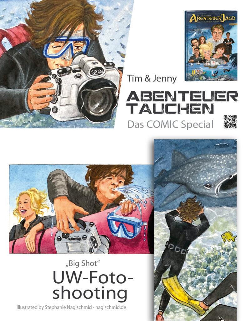 divemaster Comic - UW-Fotoshooting